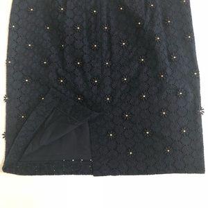 Talbots Skirts - •Talbots• Navy Daisy Eyelet Pencil Skirt
